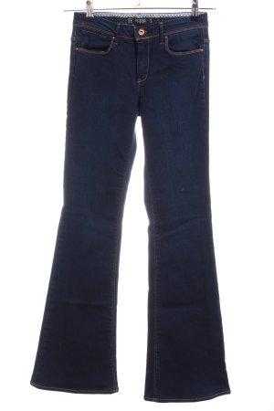 Zara Trafaluc Vaquero de corte bota azul look casual