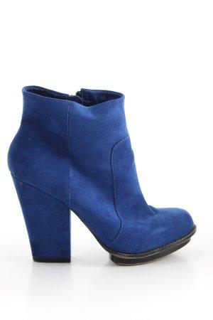 Zara Trafaluc Booties blau Casual-Look