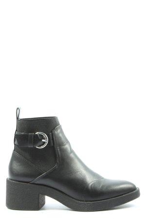 Zara Trafaluc Botki czarny W stylu casual