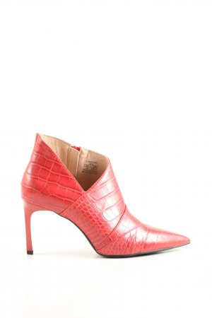 Zara Trafaluc Booties rot Allover-Druck Business-Look