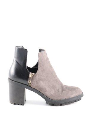 Zara Trafaluc Stivaletto grigio chiaro-nero stile casual