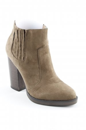 Zara Trafaluc Booties ocker-dunkelbraun Casual-Look