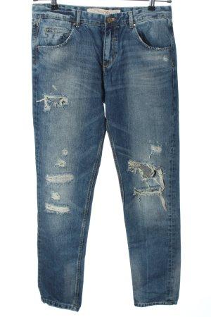 Zara Trafaluc Boyfriend Jeans blue casual look