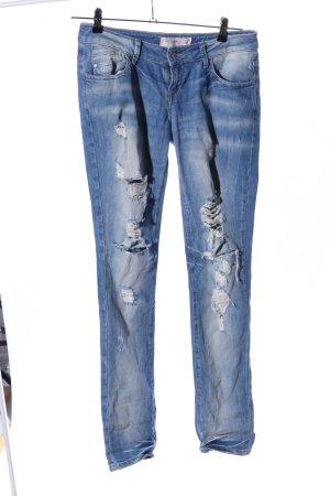 Zara Trafaluc Jeans boyfriend bleu style décontracté