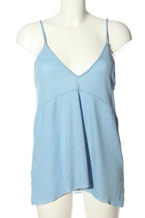 Zara Trafaluc Camisole blauw casual uitstraling