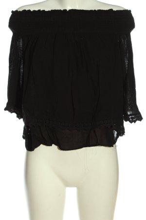 Zara Trafaluc Blouse Carmen noir élégant