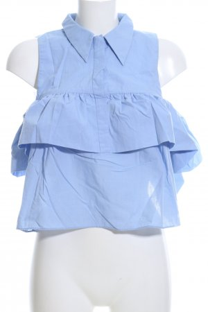 Zara Trafaluc Carmen-Bluse blau Casual-Look