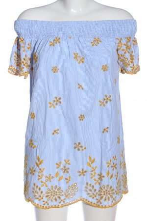Zara Trafaluc Carmen-Bluse blau Streifenmuster Casual-Look