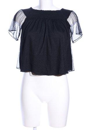 Zara Trafaluc Blusa tipo Carmen negro look casual