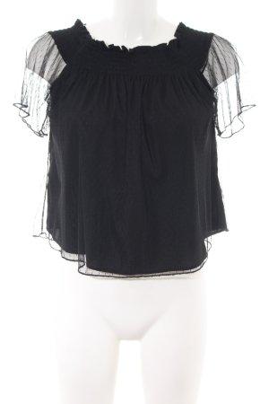 Zara Trafaluc Carmen-Bluse schwarz Elegant