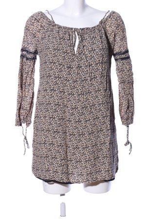 Zara Trafaluc Schlupf-Bluse Allover-Druck Casual-Look