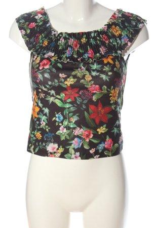 Zara Trafaluc Camisa tipo Carmen estampado floral look casual