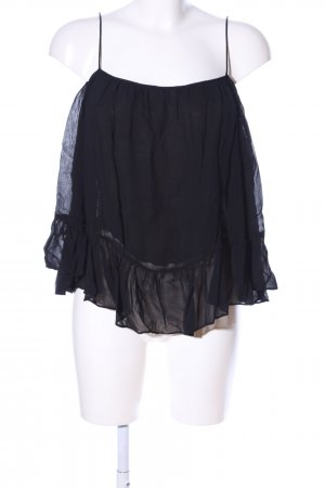 Zara Trafaluc Carmenshirt schwarz Party-Look