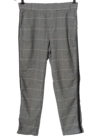 Zara Trafaluc Chinos light grey-black check pattern casual look