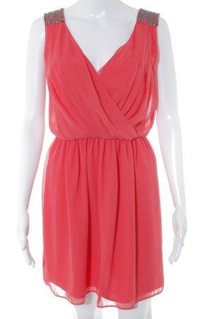Zara Trafaluc Vestido de cóctel rojo claro estilo fiesta