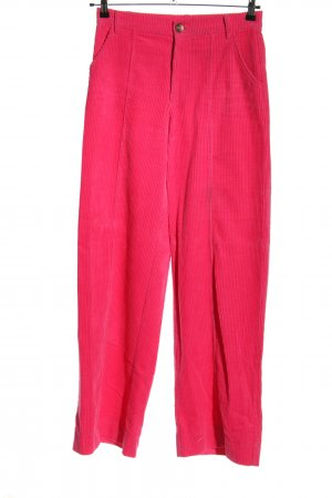 Zara Trafaluc Corduroy Trousers pink casual look