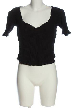 Zara Trafaluc Cropped Pullover schwarz Casual-Look
