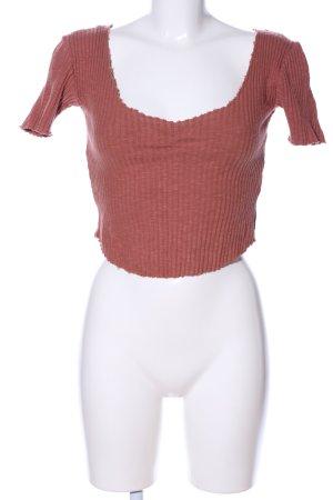 Zara Trafaluc Cropped Shirt brown casual look