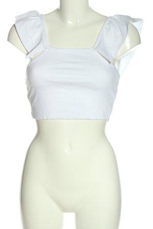 Zara Trafaluc Cropped Shirt weiß Casual-Look
