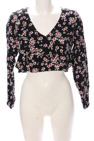 Zara Trafaluc Cropped Shirt Allover-Druck Casual-Look