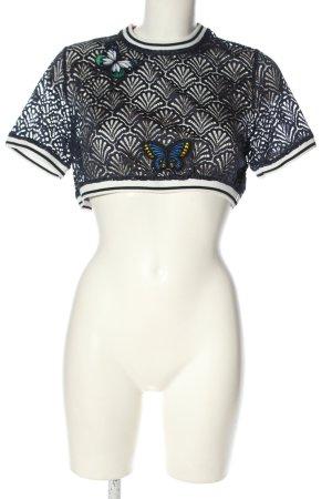Zara Trafaluc Cropped Shirt Schriftzug gestickt Casual-Look