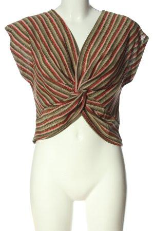 Zara Trafaluc Cropped Shirt Streifenmuster Casual-Look