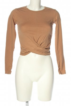 Zara Trafaluc Cropped Shirt nude Casual-Look