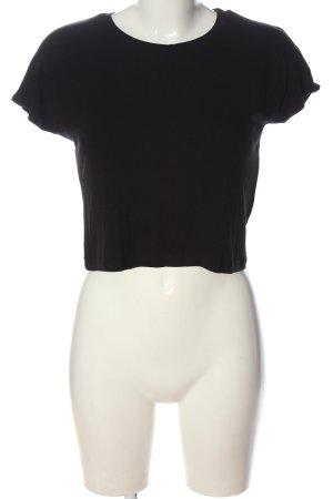Zara Trafaluc Cropped Shirt schwarz Casual-Look