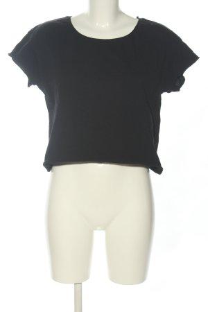 Zara Trafaluc Camicia cropped nero stile casual