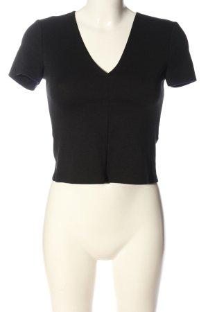 Zara Trafaluc Cropped Shirt black casual look