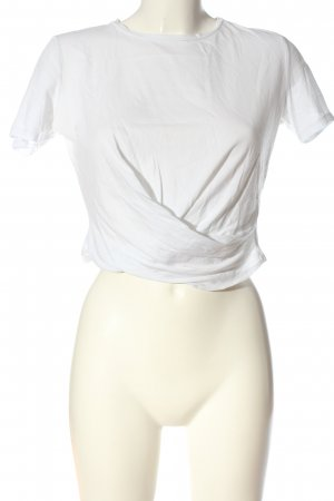 Zara Trafaluc Camisa recortada blanco look casual