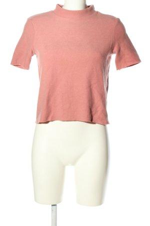 Zara Trafaluc Cropped shirt roze casual uitstraling