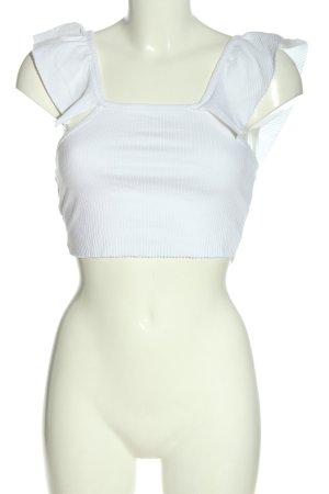 Zara Trafaluc T-shirt court blanc style décontracté