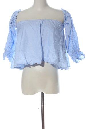Zara Trafaluc Cropped top blauw elegant
