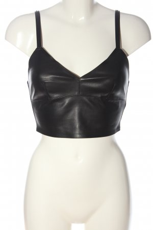 Zara Trafaluc Top recortado negro elegante