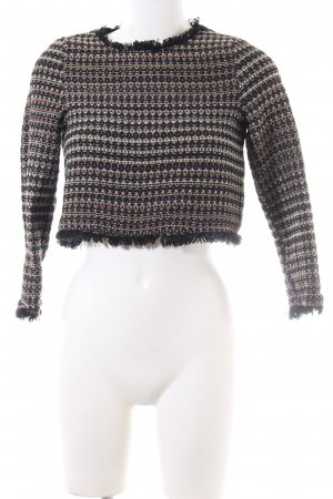 Zara Trafaluc Cropped Top grafisches Muster Business-Look
