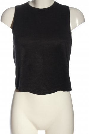 Zara Trafaluc Top recortado negro look casual