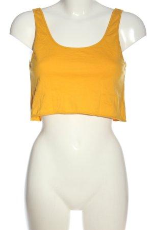 Zara Trafaluc Top corto giallo pallido stile casual