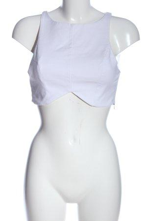 Zara Trafaluc Cropped Top weiß Casual-Look