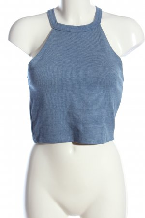 Zara Trafaluc Cropped Top blau Casual-Look