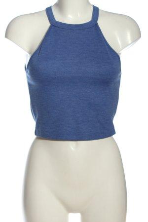Zara Trafaluc Cropped Top blau meliert Casual-Look