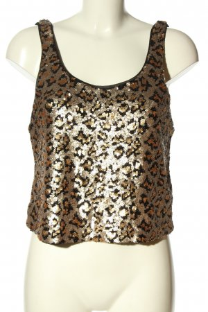 Zara Trafaluc Cropped top goud luipaardprint glitter-achtig