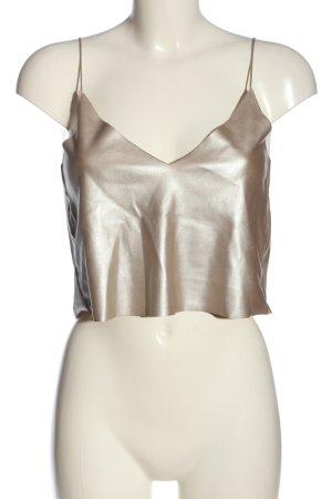 Zara Trafaluc Cropped Top bronze-colored elegant