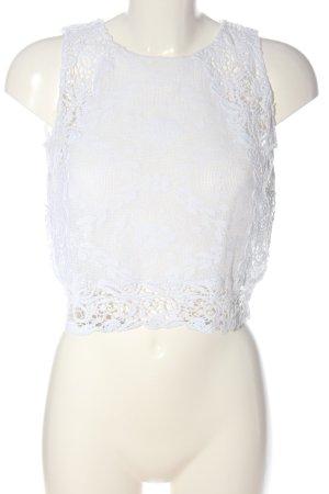 Zara Trafaluc Cropped top wit casual uitstraling