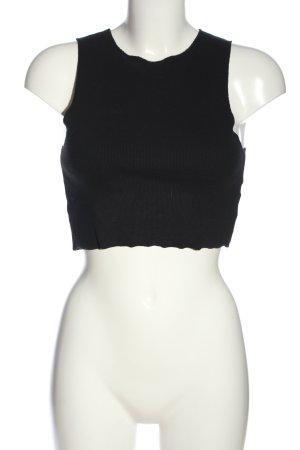 Zara Trafaluc Cropped Top schwarz Casual-Look