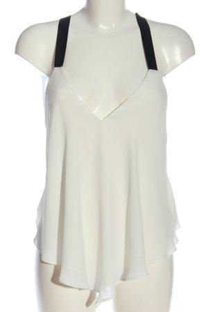 Zara Trafaluc Cropped Top weiß-schwarz Casual-Look