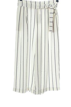 Zara Trafaluc Culottes weiß-schwarz Streifenmuster Casual-Look