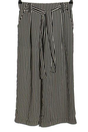 Zara Trafaluc Culottes schwarz-weiß Streifenmuster Casual-Look