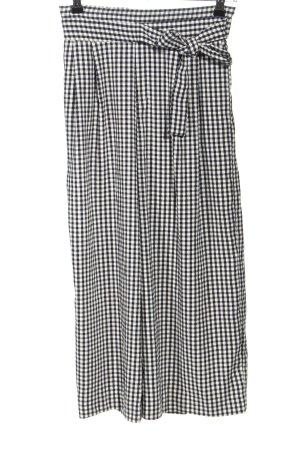 Zara Trafaluc Culottes schwarz-weiß Allover-Druck Casual-Look