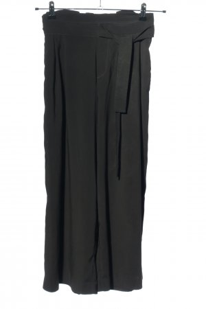 Zara Trafaluc Falda pantalón de pernera ancha negro look casual